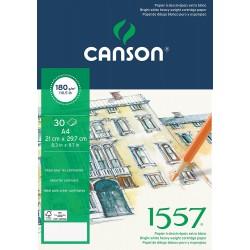 BLOC DESSIN 1557 -180 g/m² - CANSON-A4