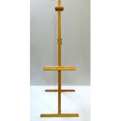 Chevalet de cours avec attache en bois rouge naturel huilé (T)