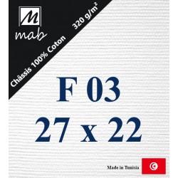 Châssis Entoilé Format : F3   27x22