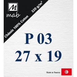 Châssis Entoilé Format Paysage P03 : 27x19