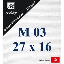 Châssis Entoilé Format Marine M03 : 27x16