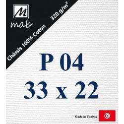Châssis Entoilé Format Paysage P04 : 33x22