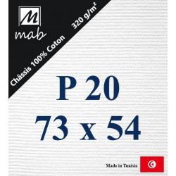 Châssis Entoilé Format Paysage P20 : 73x54