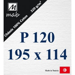 Châssis Entoilé Format Paysage P120 : 195x114