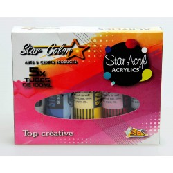 Coffret acrylique 5 x 100 ML - Star Color