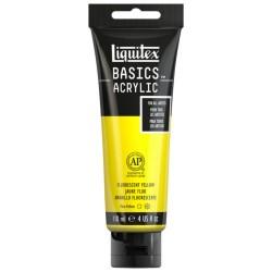 Acrylique Liquitex Basics - 118ml : Jaune fluorescent