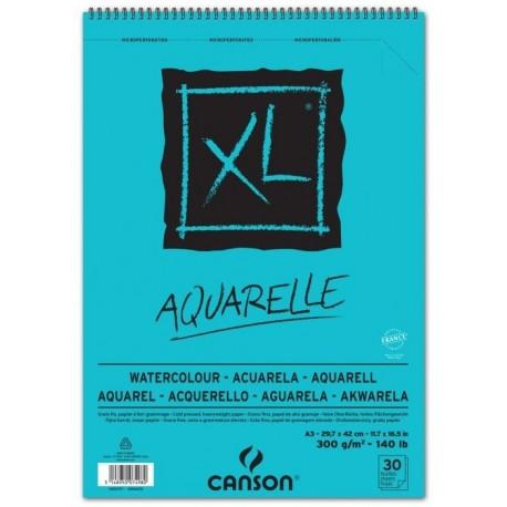 ALBUM PAPIER AQUARELLE XL 300G/M² 30 FEUILLES - CANSON-A3