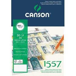 Bloc Dessin 1557 -180 g/m² A5 21 x 14.8 cm - Canson