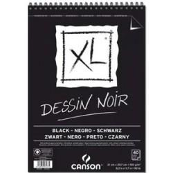 Album de Dessin XL Noir - 150g/m² - A4 - 42 x 29.7 cm - 40 F - Canson