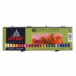 Set de 24 Soft Pastel couleurs rondes assorties - Conté à paris