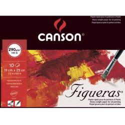 Bloc Figueras 290g/m² - 10 F - 25x19 cm - Canson