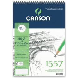ALBUM DESSIN 1557 SPIRALE  120 g/m² - CANSON  A3