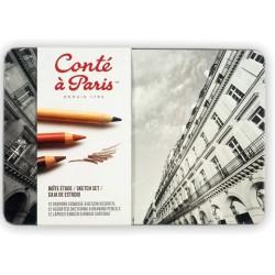 Set de 12 Crayons Esquisse - Boite Etude - Conté à paris