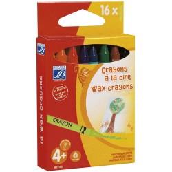 Crayons à la cire pour enfants - Boîte de 16 - Lefranc Bourgeois