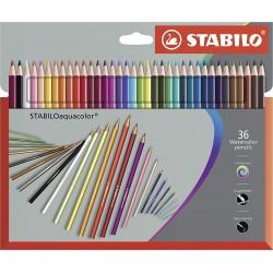 36 Crayon de couleur Aquarellable  Assorties - Stabilo