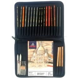 Trousse de 20 Crayons Esquisse  - Conté à Paris