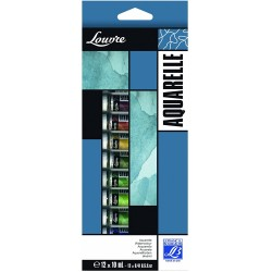 Set Aquarelle Louvre 12X10ml -  Lefranc & Bourgeois