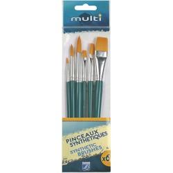 Peinture Value Pack Multi 6 Pinceaux Assortis - Lefranc Bourgeois