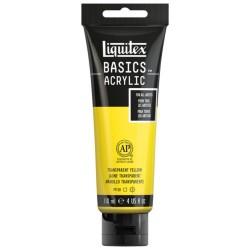 Acrylique Liquitex Basics - 118ml : Jaune transparent 045