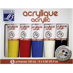 Set de 5 Peinture acrylique 120 ml - Lefranc Bourgeois