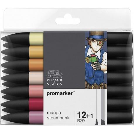 Set de 12+1 Promarker Manga Steampunk - Winsor & Newton