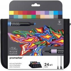 Set de 24+1 Promarker Arts et illustration - Winsor & Newton