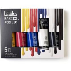 Set Acrylique Basics 5 x 118ml - Liquitex