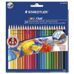 Étui carton avec 24 crayons Couleurs Aquarellables Tendres - Staedtler