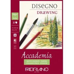 Bloc à spirale de dessins 200 gr de 30 Feuilles 42x29.7 cm Accademia A3 - Fabriano