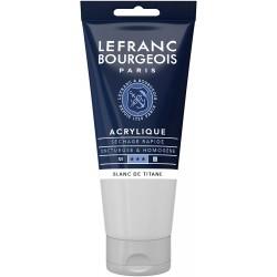 Acrylique Fine Tube 80ml Blanc De Titane 008 - Lefranc Bourgeois