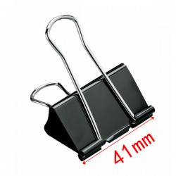 Pince métallique Noir de papier 51mm plié - Binder Clips