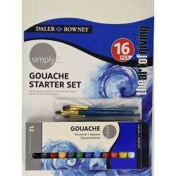 Set Starter Gouache 16 Pcs Simply - Daler Rowney