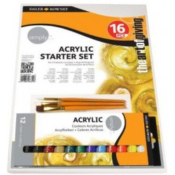 Set Starter Acrylique 16 Pcs Simply - Daler Rowney