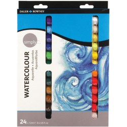 Set de 24 aquarelles de 12 ml Simply - Daler Rowney