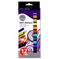 Set de 12 Pastels Soft Simply - Daler Rowney