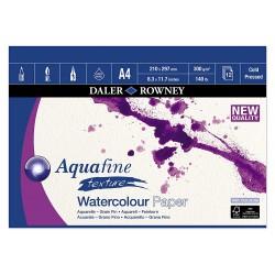Bloc Papier Aquarelle Texture  A4 300 g 12F Aquafine - Daler Rowney