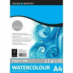 Bloc Papier Aquarelle A4 190g 12F Simply  - Daler Rowney