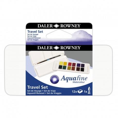 Boite Aquarelle 12 Demi-Godets Aquafine Travel Set - Daler Rowney