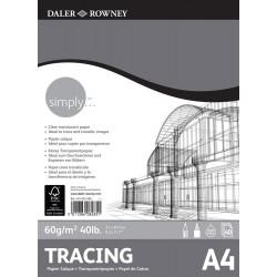 Bloc Calque A3 60 g 40F Simply - Daler Rowney