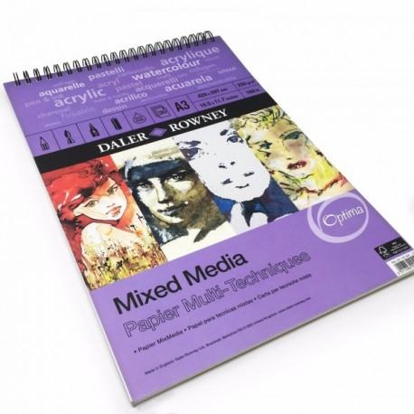 Bloc Papier Mixed Media  A4 250 g 30 F  Optima  - Daler-Rowney