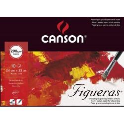 Bloc Figueras 290g/m² - 10 F - 24x33 cm - Canson