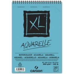Album papier aquarelle  XL 300g/m² - A4  29.7 x 21 cm - 30 F - Canson