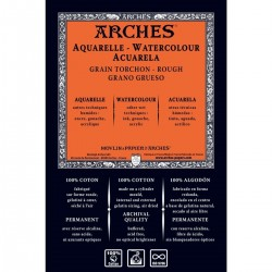 Feuille Aquarelle 76 x 56 cm  640 g/m² - Arche