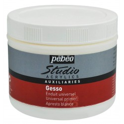 Pot de Gesso Acrylique Blanc 500 ml - Pébéo