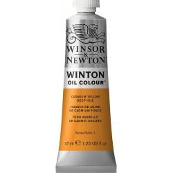 Peinture à l'huile Winton 37ml Jaune de cadmium moyen 116 - Winsor & Newton
