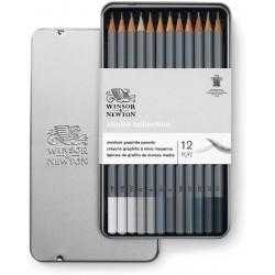Studio Collection 12 crayons Graphite - Winsor & Newton