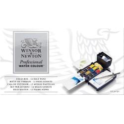 Coffret Aquarelle Professionnel pour Extérieur de 12 - 1/2 Godet - Winsor & Newton