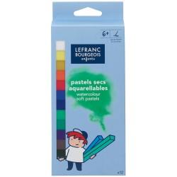 Pastels tendres aquarellables pour enfants - Boîte de 12 - Lefranc Bourgeois