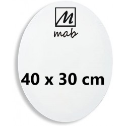 Châssis Entoilé Format Ovale Coton 50x40 cm - Mab