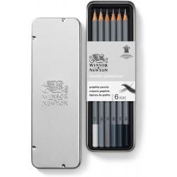 Studio Collection 6 crayons Graphite - Winsor & Newton